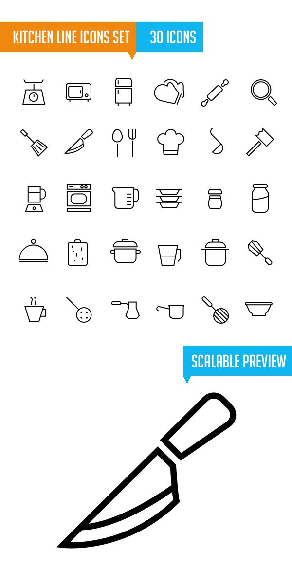 550+ Free Vector Line Icons for Designers
