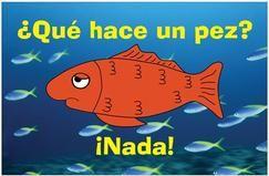 Que hace un pez POSTER for Spanish class