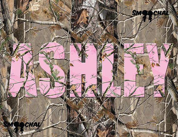Pink Mossy Oak Camo Wall Art Custom Wall Art by SmoochalDesigns
