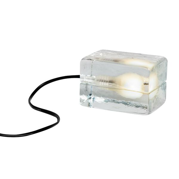 Mini Block lamppu, musta johto