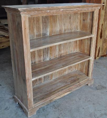 Indien-Haus - Möbel-Serien Lager - indische Möbel / Regal, Akazienholz im Lime-Washed-Finish,
