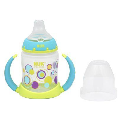 NUK Learner Cup 5Oz 1Pk Lime Dots