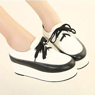 [$16.31]Fashion platform shoes color blocked girls shoes XD-WSw12