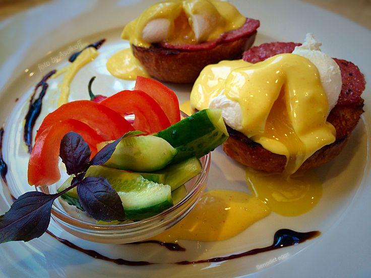 """Французский завтрак или яйцо Бенедикт или """"серпом по - яйцам""""! French breakfast or Bénédicte's egg, or sickle hit in the balls!"""