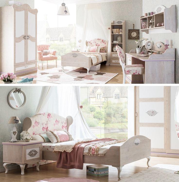 Een mooie rustieke meisjeskamer. De Ballerina serie zorgt voor een romantische sfeer!