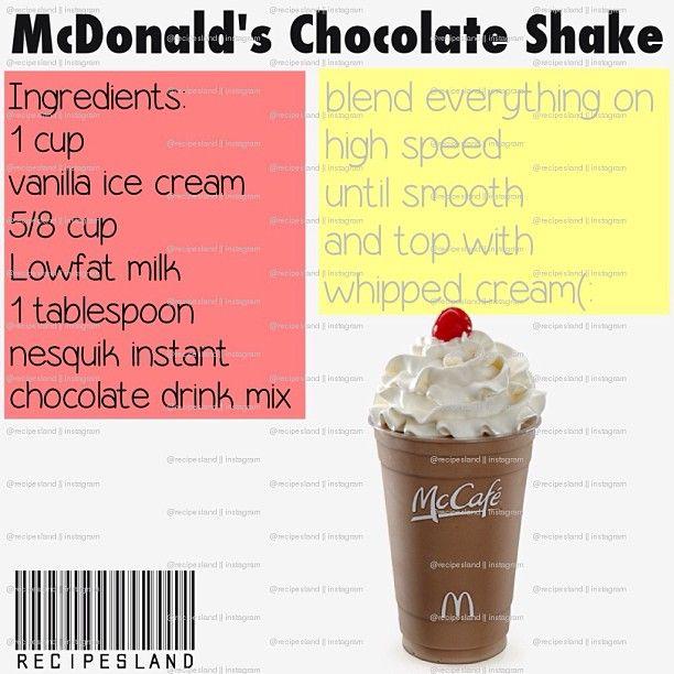 McDonald's chocolate shake