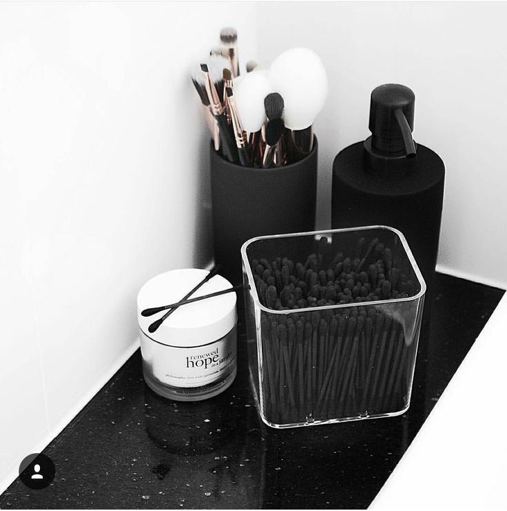 I love the black q tips. You can get them at Daiso, perfect for that container I just bought from Goodwill.