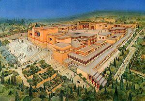 Minoan palace, Knossos, Heraklion, crete