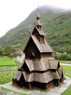 Caught Being Godly: 10 Beautiful Christian Churches Around the World-Stave Church in Stavkirke Borgund, Norway
