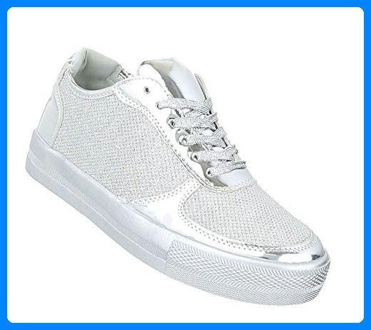 Damen Schuhe 10814 Sneaker Silber 40 | Schuhcity24 - Slipper und mokassins für frauen (*Partner-Link)