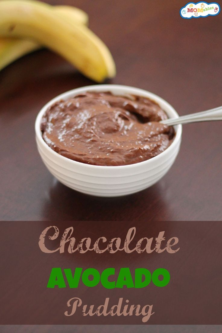This Chocolate Avocado Pudding via MOMables is the perfect snack pack for your kids!