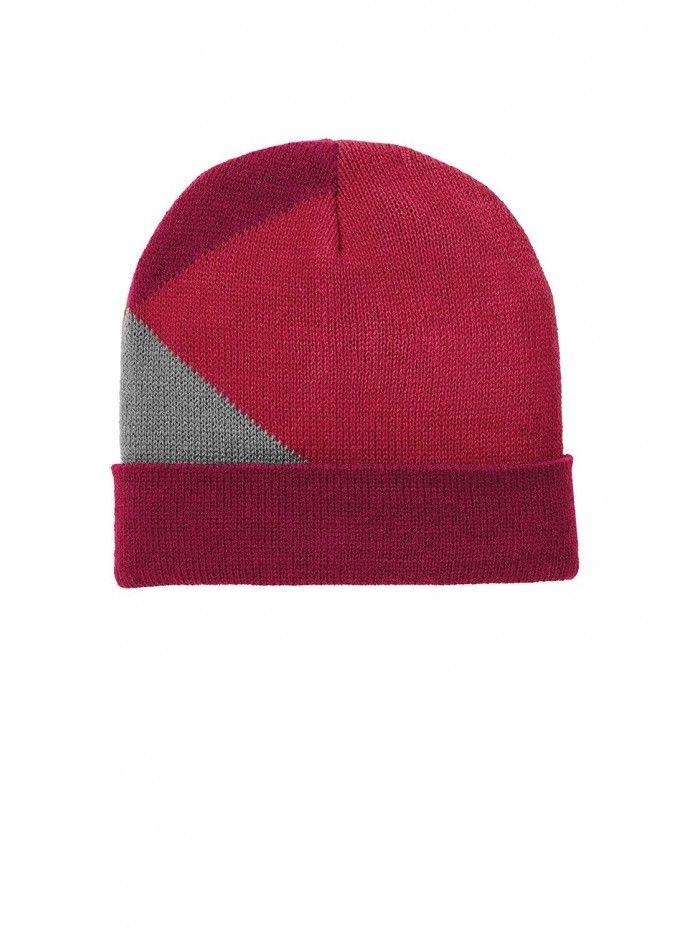 Men Women Adult Acrylic Watch Colorblock Winter Sports Beanie Hat Cap -  Berry Fuchsia  8d7fb2ecf0