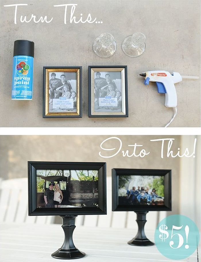 23 stylish diy projects that only require items from the dollar store diy picture frames ideas