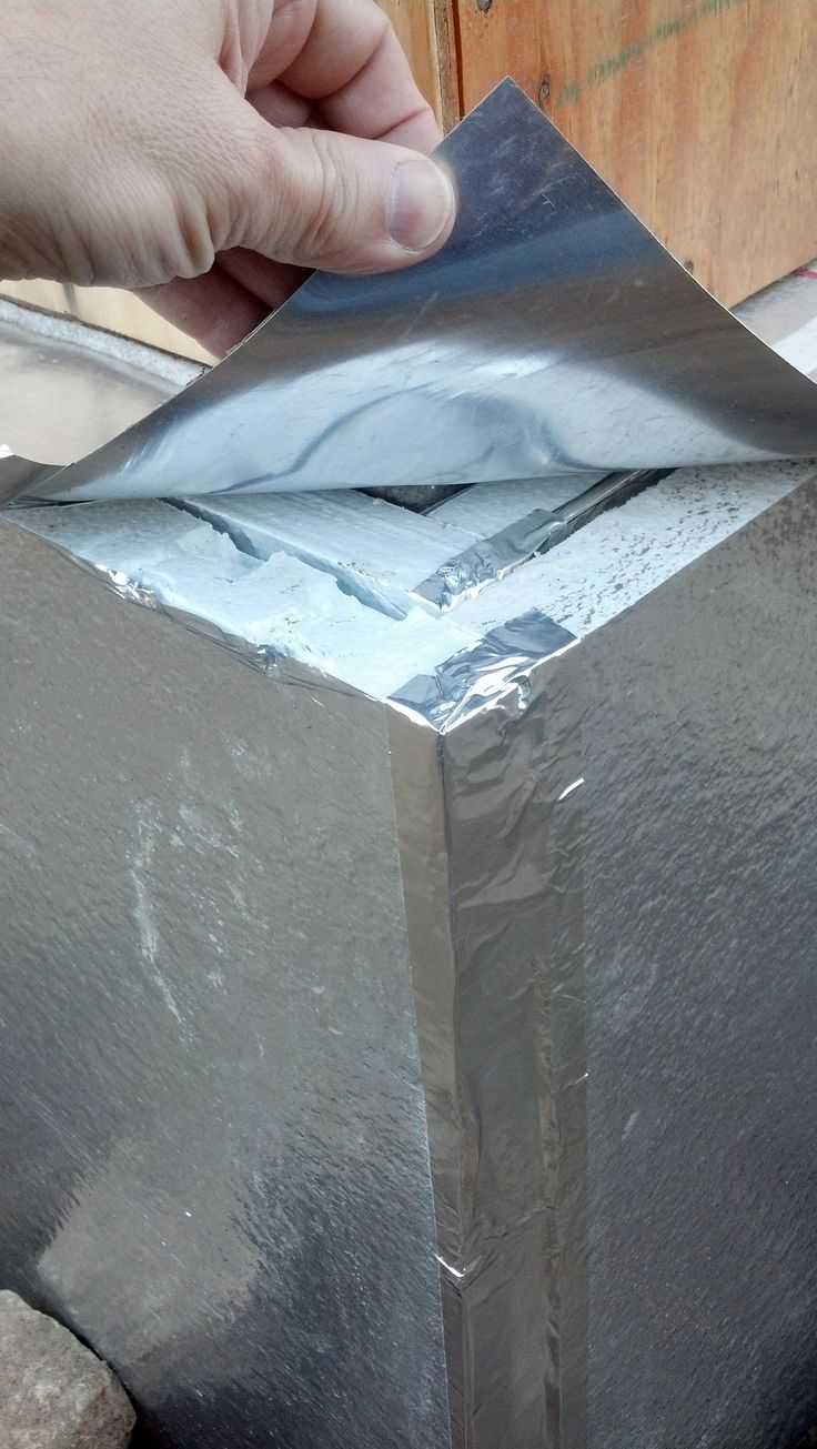 insulated floor slab edge with 2 layers of extruded polystyrene styrofoam insulation taped