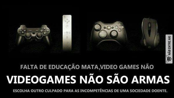 games não nós torna violentos  pohaaaaaaaaaaaaa!! vou matar quem discordar