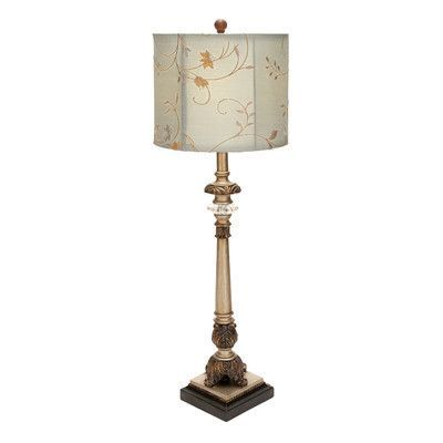 "Woodland Imports Buffet 29"" H Table Lamp with Drum Shade"