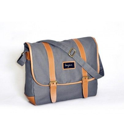 Tas Selempang Laptop - Bonjour Charlot Abu-Abu from AnyBagz - Rp 249.000: http://www.anybagz.com/index.php?route=product/product&product_id=44