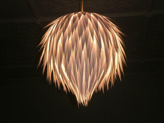 Artichoke Handmade Hanging Paper Light by MelsCreativeDesigns, $50.00