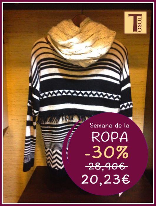 ¡Combate el frío vistiendo siempre a la moda! Aprovéchate de un 30% de descuento en las prendas de ropa.  #moda #estilo #otoño #noviembre