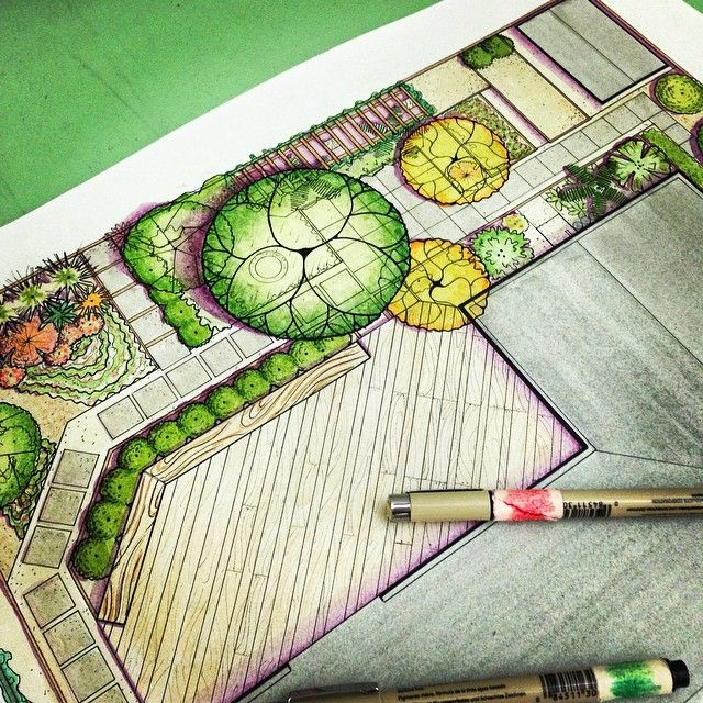Garden design landscape design inspiration pinterest for Garden design sketches