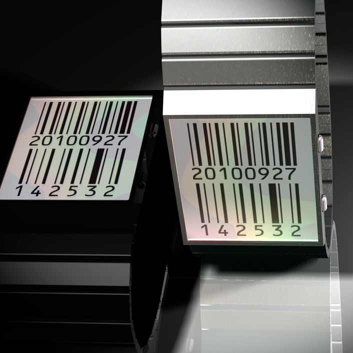"A cool ePaper watch design submitted to the Tokyoflash Design Studio Blog by Laszlo from Hungary. ""The date and time are displayed in barcodes and digits. The barcode changes every second showing the actual time including the seconds."" #uniquewatch #watchdesign #tokyoflash #kisai #unusualwatch #barcode #funwatch"