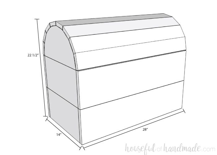Diy Treasure Chest Toy Box Outdoor Toy Storage Chests Diy Woodworking Plans Diy