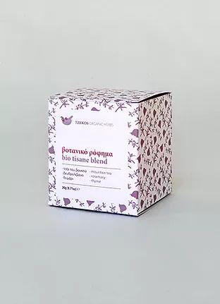 Tzekos Organic Herbs — bio tisane blend 1. mountain tea, rosemary, thyme.