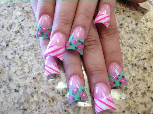 Duck feet acrylic nails nailart @ Sarah Hill Beauty Care #flares - The 11 Best Nail Designs I'm Loving Images On Pinterest Duck Nails