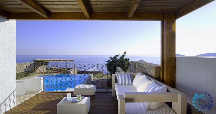 "Welcome to the ""Villa Helios"" in Crete, Greece. Your #luxury #villa #rent #greece #greek #island #vacances #grece #mygreekvilla #alouer"