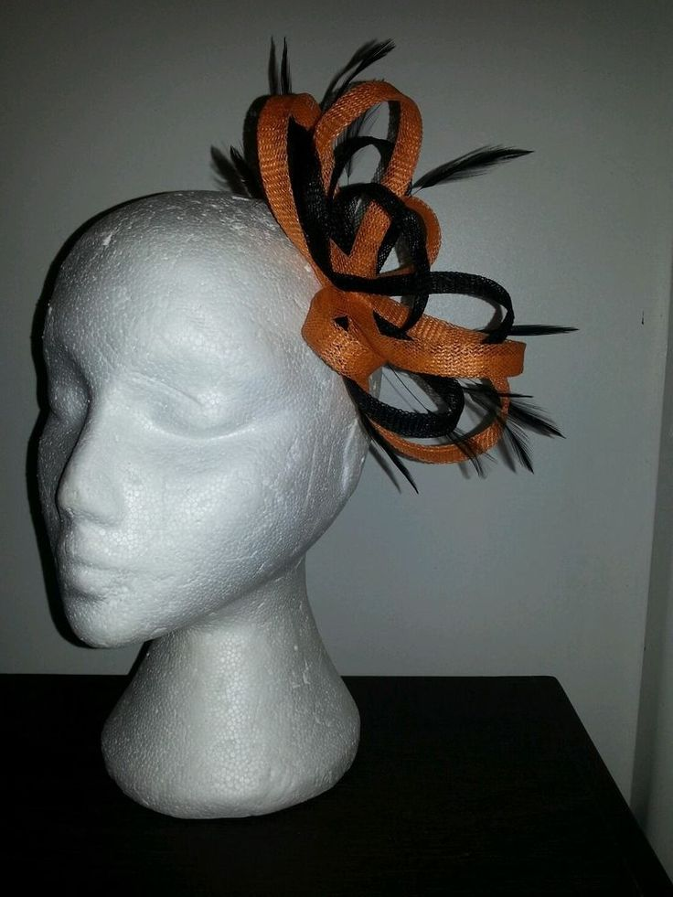 Black and Orange fascinator / hatinator for wedding/races special occasion  EBFAS-003  £26.50 free pp
