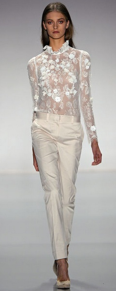 Jill Stuart, Spring 2013 !:gem:!; would be pretty with powder blue top and navy or tan pants