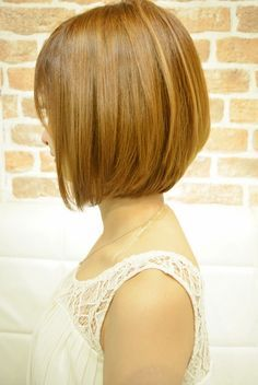 Low layer bob hair style and haircut