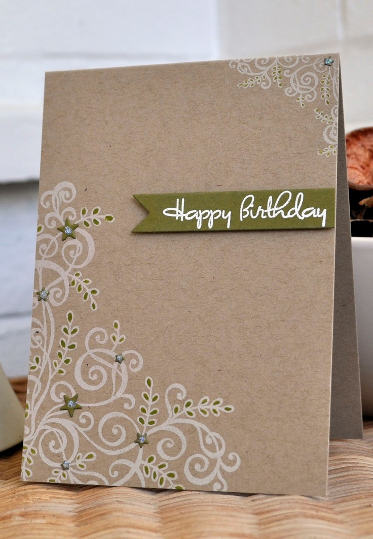 Love the simplicity of this card and the white stamp ink.