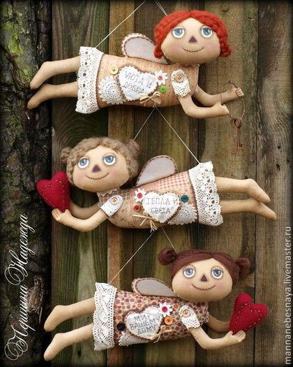 Девочки-ангелочки с пожеланиями