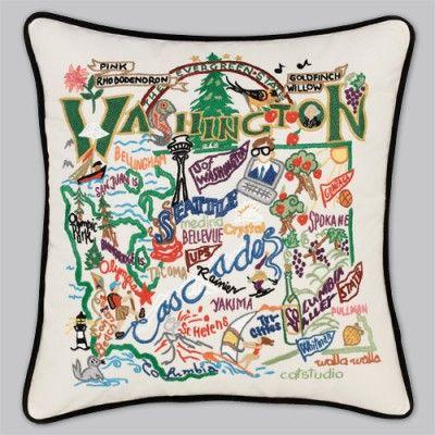 love this pillow! includes: bainbridge island, seattle, space needle, pullman, vino, wsu..!