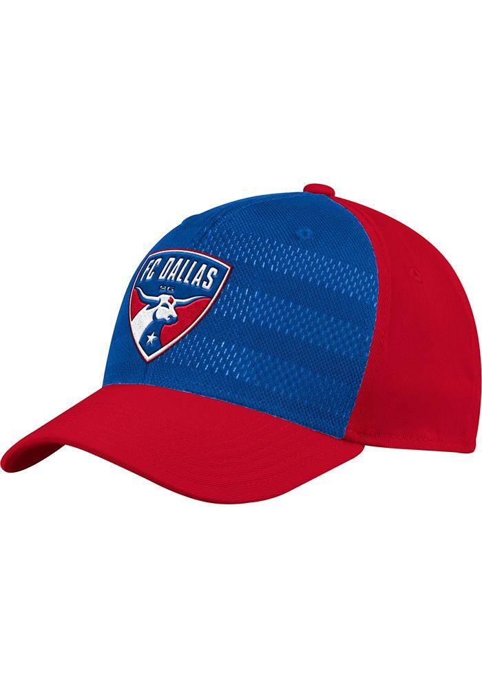 ad55c94da5d Adidas FC Dallas Mens Red 2018 Authentic Structured Flex Hat
