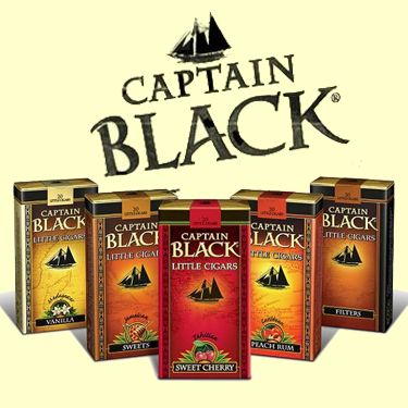 Featuring the famous taste of Captain Black Pipe Tobacco, these little gems offer a mild taste, with a sheet wrapper and a blend of Indonesian, Philippine and United States tobaccos. Enjoy Captain Black Little Cigars available in Filter and Sweet. #captainblack #littlecigars #machinemadecigars