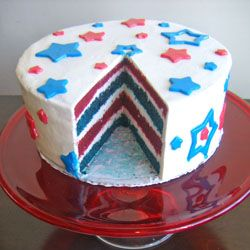 fourth of july red velvet cake