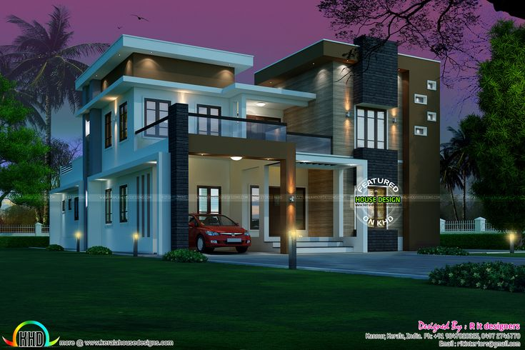 Contemporary 5 bedroom 3727 sq-ft in 2020   Kerala house ...