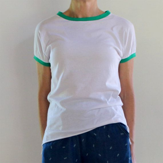 White Handmade Organic Cotton T-shirt with Upcycled by mijentto