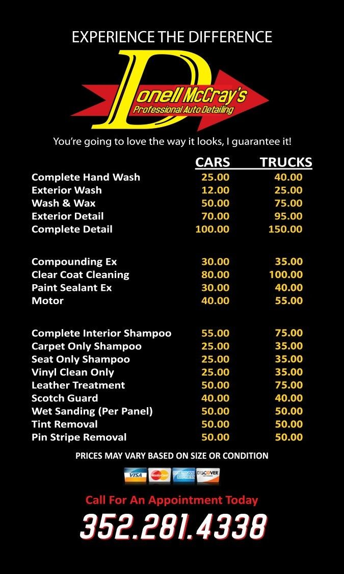 Unique Car Wash Prices