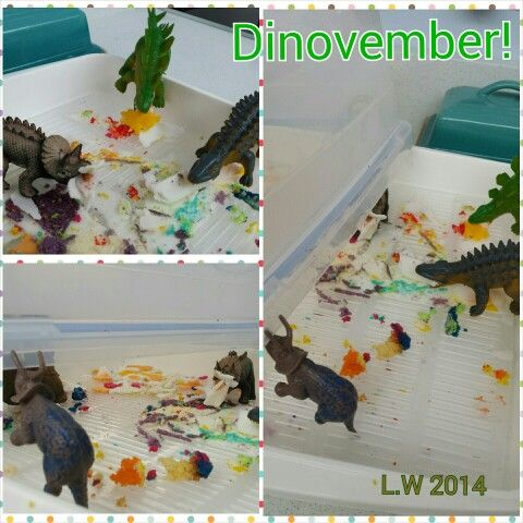 Finishing off the birthday cake. #dinovember