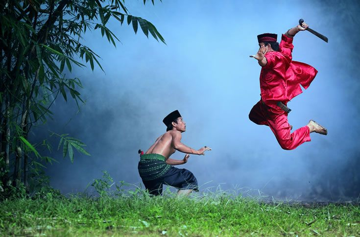 "Silat Betawi.     Martial Arts from Jakarta, Indonesia. See the movie titled ""The Raid"" performs this action."