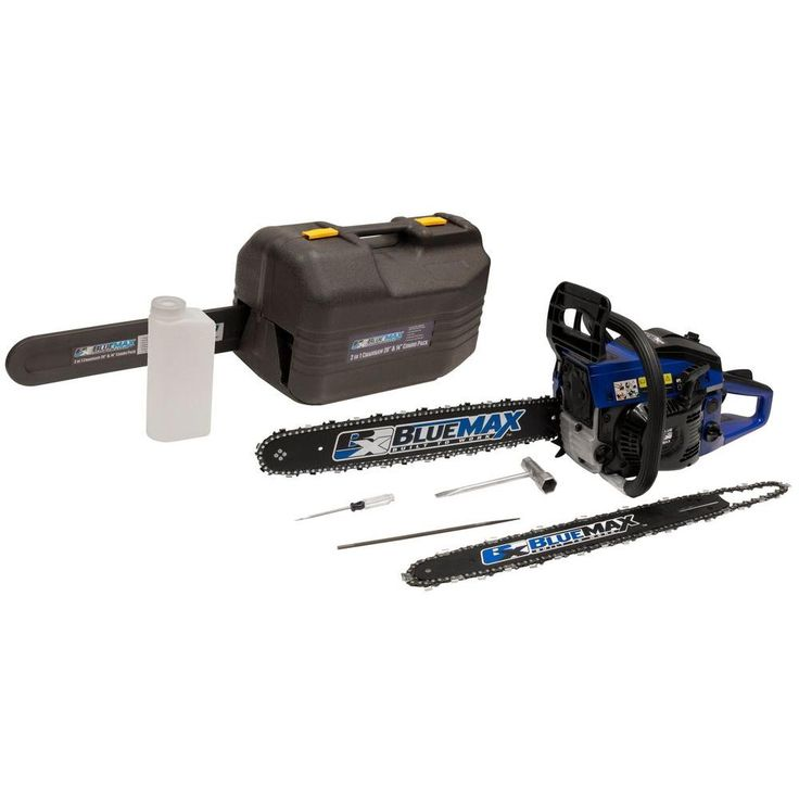 Blue Max 14/20 in. 45cc Gas Chainsaw Combo with Blow Molded Case-8902 - The Home Depot