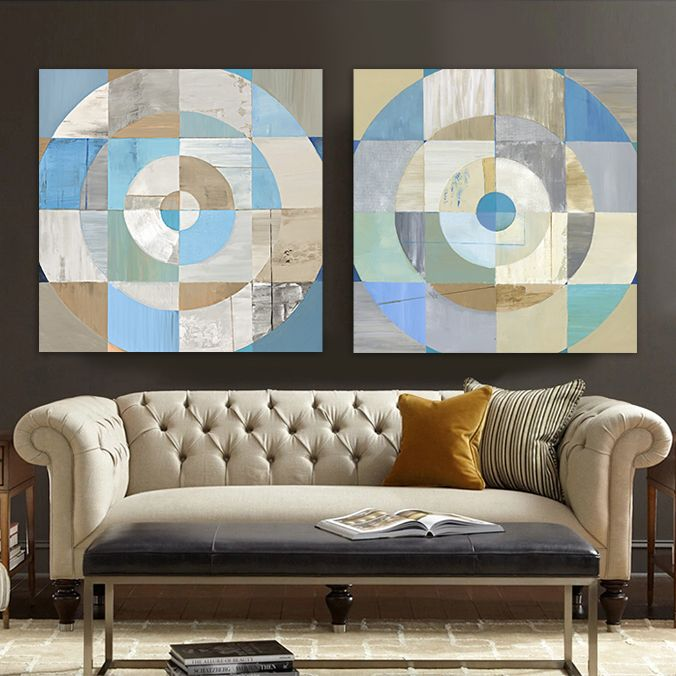 ... Light Blue Color Circular Table Living Room Office Bedroom Wall Art  Canvas,High Quality Art Canvas Supplies,China Canvas Waterproof Suppliers,  Cheap ...
