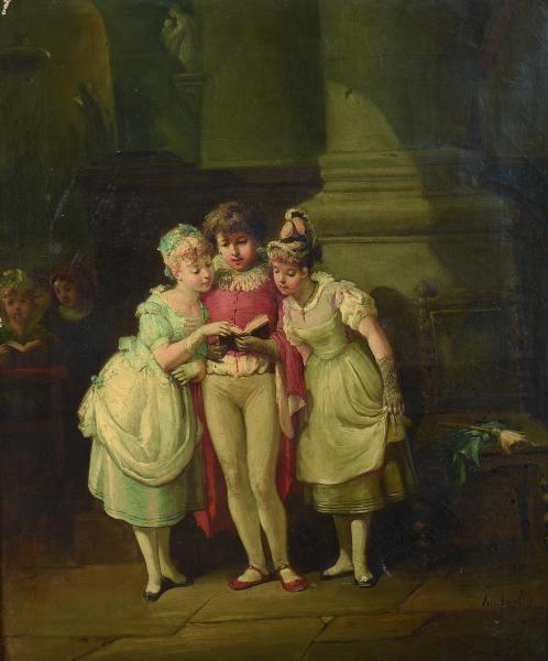 279 best images about estimation gratuite tableaux anciens for Scene d interieur blois
