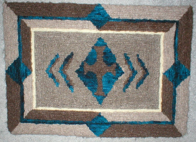 Lockerhook Rug In A Mix Of Natural And Hand Dyed Wool