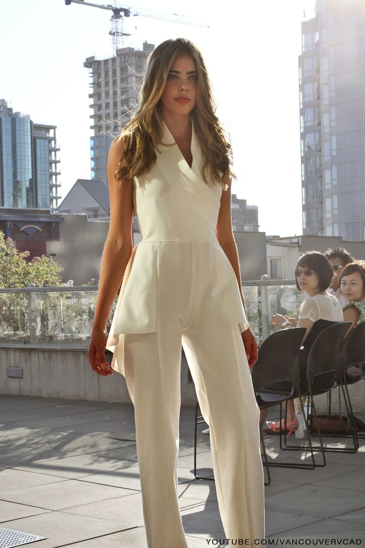 Concept Fashion Show by VCAD Grads on July 17 2013 in Vancouver BC - White Jumpsuit  Subscribe and watch VCAD videos: http://www.youtube.com/subscription_center?add_user=VancouverVCAD    #Concept #Fashion #Show #VCAD #Grads #July #2013 #Vancouver #BC #White #Jumpsuit
