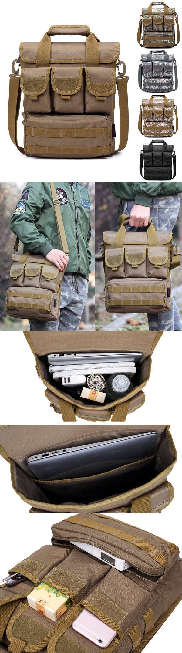 $22.28 Outdoor Sports Hiking Multi-pocket large capacity Sling Bag Handbag For Men