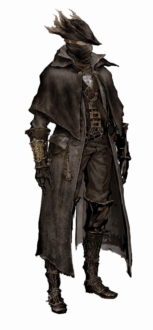 Bloodborne Concept Art - Hunter
